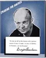Framed Speaking for America - Dwight Eisenhower