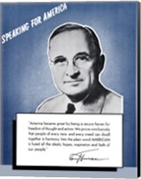 Framed Speaking for America - Harry Truman