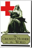 Framed Red Cross - Greatest Mother in the World
