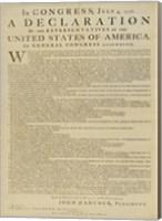 Framed United States Declaration of Independence
