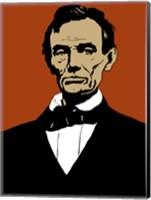 Framed Civil War Era President Abraham Lincoln