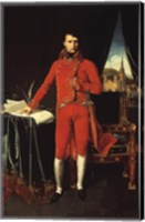 Framed Napoleon Bonaparte in Red