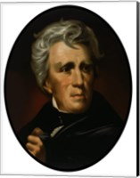 Framed President Andrew Jackson (color portrait)