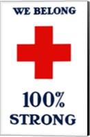 Framed Red Cross - We Belong