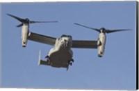 Framed MV-22B Osprey Prepares for Landing
