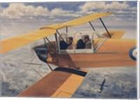 Framed De Havilland DH82 Tiger Moth basic Trainer Biplane from the 1930's