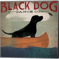 Framed Black Dog Canoe