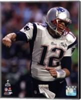 Framed Tom Brady Touchdown Celebration Super Bowl XLIX