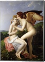 Framed Psyche Receiving the First Kiss of Cupid, 1798