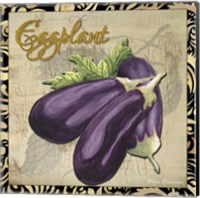 Framed Vegetables 1 Eggplant