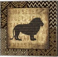 Framed African Wild Lion Border