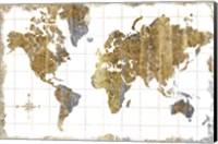 Framed Gilded Map