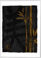 Framed Black Gold Bamboo 1