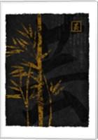Framed Black Gold Bamboo 2