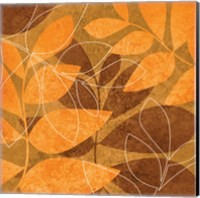 Framed Orange Leaves 1