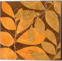 Framed Orange Leaves 2