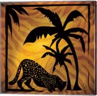 Framed Safari Silhouette I