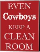 Framed Cowboys Clean Room