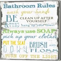 Framed Bathroom Rules Multi 1