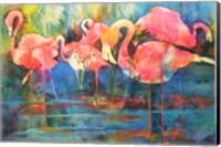 Framed Flirty Flamingos