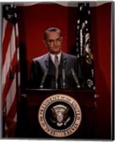 Framed Lyndon B. Johnson, 36th President of the United States
