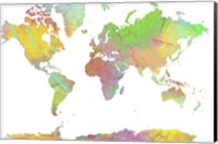 Framed World Map 8