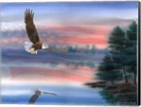 Framed Heartland Eagle