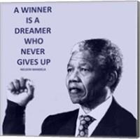 Framed Winner is A Dreamer - Nelson Mandela