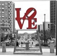 Framed LOVE (Black, White, Red)