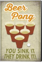 Framed Beer Pong Sink It
