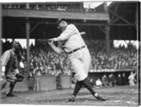 Framed Babe Ruth Seattle Dugdale Park, 1924