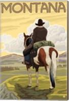 Framed Montana Cowboy On Hourse
