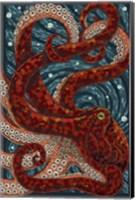 Framed Octopus Mosaic