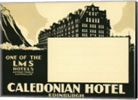 Framed Caledonian Hotel, Edinburg