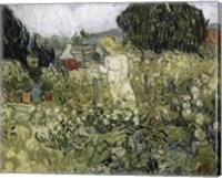 Framed Marguerite Gachet In The Garden