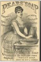 Framed Pears Soap Washbowl