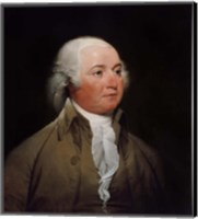 Framed President John Adams