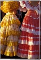 Framed Colorful Flamenco Dresses at Feria de Abril, Sevilla, Spain