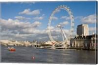 Framed England, London, London Eye and Shell Building