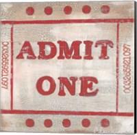 Framed Admit One