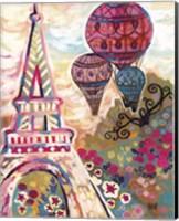 Framed Ballons Sur Paris