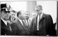 Framed Martin Luther King and Malcolm X