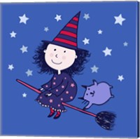 Framed Lovely Little Witch