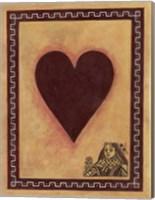 Framed Queen Of Hearts