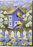 Framed Goldfinch Garden Home