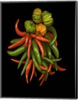 Framed Hot Peppers 3