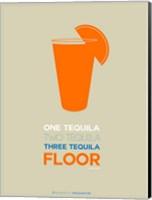 Framed Orange Tequila Shot