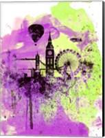 Framed London Watercolor Skyline 1