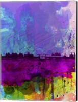 Framed Amsterdam Watercolor Skyline