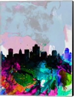 Framed Salt Lake City Watercolor Skyline